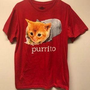 """Cat Graphic-Tee Shirt """"Purrito"""""""